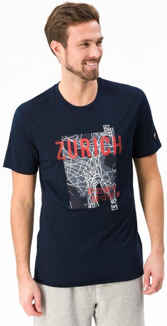 super.natural Graphic Tee Men navy blazer 3dzurich print